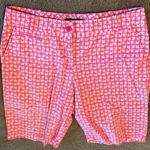 Talbots Pink White Fish Bermuda Shorts Sz 5
